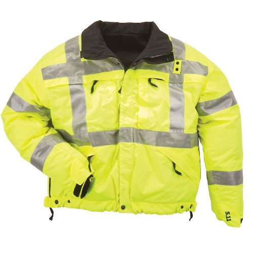 - 5.11 Tactical #48037 High-Visibility Reversible Jacket (Reflective Yellow, X-Large)