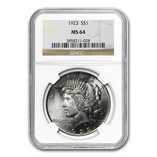 1923 Peace Dollar MS-64 NGC $1 MS-64 NGC