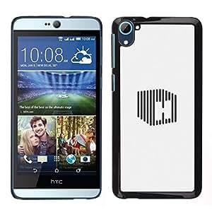 // PHONE CASE GIFT // Duro Estuche protector PC Cáscara Plástico Carcasa Funda Hard Protective Case for HTC Desire D826 / cube H stripe /