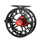 Cheap Maxcatch Toro Series Fly Fishing Reel with Large Arbor, CNC-Machined Aluminum Alloy Body: 3/4, 5/6, 7/8 wt in Blue, Green, or Black (Black, 7/8 wt)