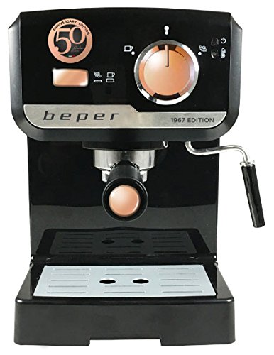 Beper BC.001 Máquina para Espresso 1, 5 Litro 15 Bars, 1140 W, Negro: Amazon.es: Hogar