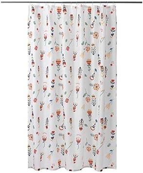 Ikea rosas fibbla cortina de ducha en color blanco; con flores ...
