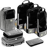 VASCO Travel Packing Cubes Set: Viaje a prueba de agua Organizador de embalaje de 3 cubos de compresión + Bolsa de viaje + Colchoneta de baño + Electrónica Cube + Travel RFID Wallet | Kit de viaje superior