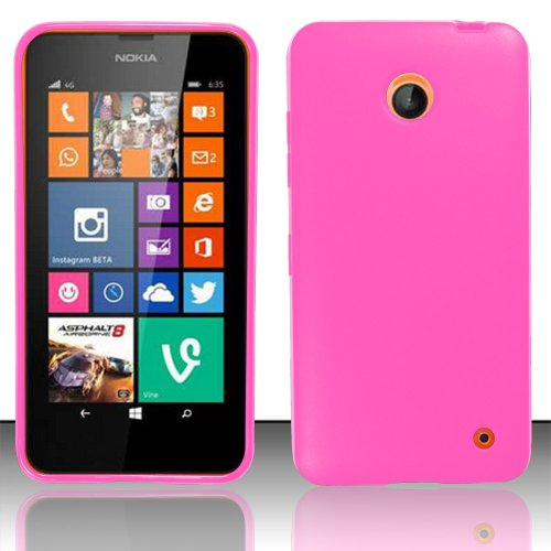 Nokia Series - Lumia 635 Case - Premium TPU Series Slim, Lightweight, Easy Grip TPU Case - Pink Cover For Nokia Lumia 635 / Lumia 630 Case - TRENDE