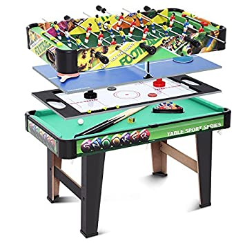 4 In 1 Folding Multi Games Table Air Hockey Pool Foosball Table Soccer
