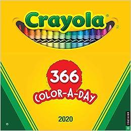 New Crayon Color 2020 Crayola 2020 Wall Calendar: 366 Crayon Colors: Crayola