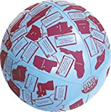 """American Educational Vinyl Clever Catch States and Capitals Ball, 24"""" Diameter"""