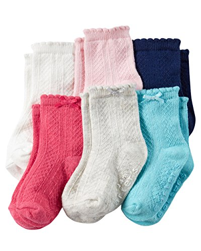 Carter's Baby-Girls Socks, Solid Heather, 3-12 Months (Pack of 6)