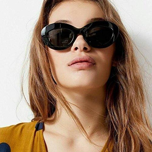 F Ovale Big Hunpta Œil Unisexe Homme Soleil Rétro Femme de Lunettes Chat de Eyewear Forme Cadre 8wUZwgzq