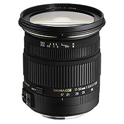 Sigma 17-50mm f/2.8 EX DC OS HSM FLD Large Aperture Standard Zoom Lens for Sigma Digital DSLR Camera