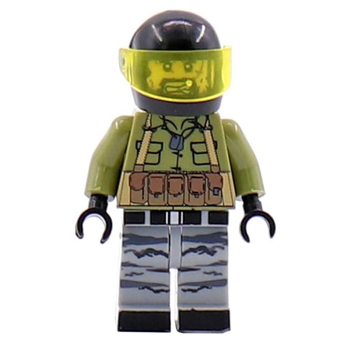 FutureShapers Juego Militar de Escena de Batalla + Juego de Mini Figuras + Juego de Armas para Soldados de policía Equipo de Figuras SWAT, Coincide ...