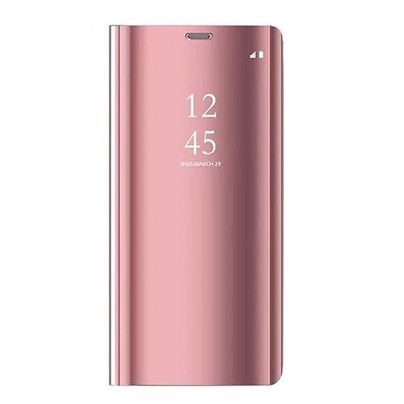 Caler ® Funda Reemplazo para Samsung Galaxy S7 Funda,Flip Tapa Libro Carcasa Modelo Fecha Espejo Brillante tirón del Duro Case Espejo Soporte Plegable ...