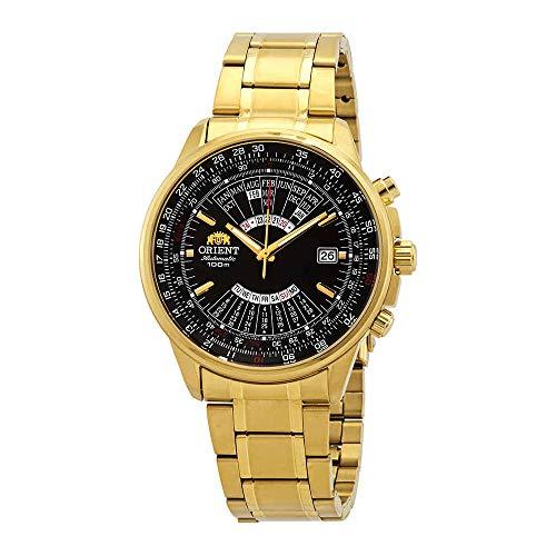 Orient Multi Year Calendar Perpetual World Time Automatic Black Dial Men's Watch FEU07001BX (Calendar Dial Black Perpetual Mens)