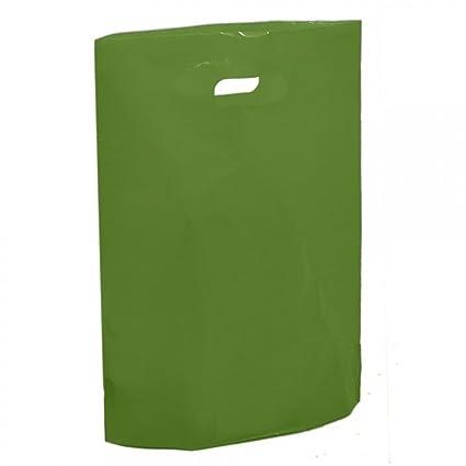 Harrods bolsas de plástico verde - 15 pulgadas x 18 pulgadas ...