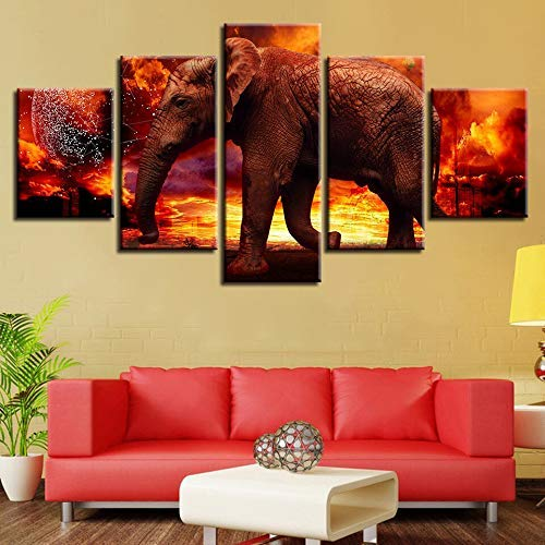 """Elefante Caja Lona Foto fotografía animal 30x20 /"""""""