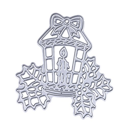 Whitelotous Cutting Dies Cut Dies Stencil Metal Template Mould for DIY Scrapbook Album Paper Card (Christmas Candle)
