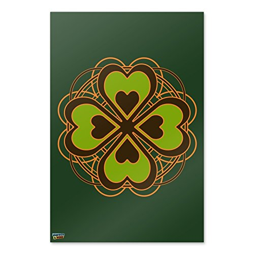Four Leaf Clover Lucky Home Business Office Sign - Laminated Poster - 24