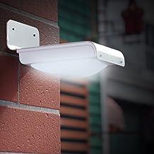 LE Solar Powered LED Motion Sensor Light, Wireless Night Light, Bright 16 LED Wall Light, Security Light for Door, Entrance, Pathways, Patios, Garden