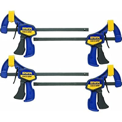 Irwin Tools 5464 Quick Grip One-Handed Mini Bar Clamp, 6-Inch, 4-Pack