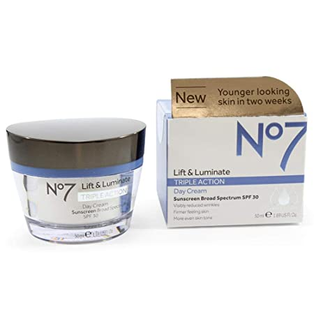 Boots No7 Lift And Luminate Triple Action Day Cream 1.6 Ounce
