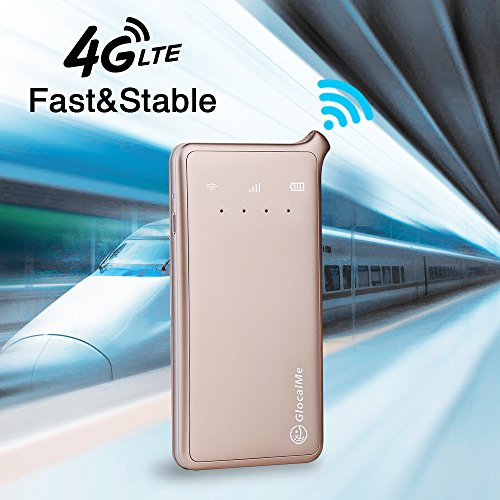 GlocalMe U2 4G Mobile Hotspot Global Wi-Fi with 1GB Global Initial Data, SIM Free, Coverage in Over 100 Countries Featuring Free Roaming, Compatible with Smartphones, Pads, Laptops and More(Gold) by Glocalme (Image #1)