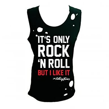 dc4c2725cc232d Rolling Stones - It s Only Rock N Roll Women s Destroyed Tank Top T-Shirt (
