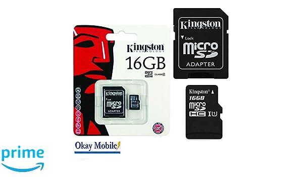 Kingston Original MicroSD Tarjeta De Memoria 16 GB para LG ...