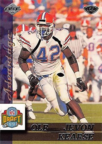 Collectors Edge Autographed Card - Jevon Kearse football card (Florida Gators) 1999 Collectors Edge Draft Rookie #174