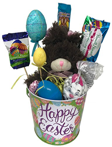 Happy Easter Candy Bouquet Gift Basket ~ Decorated with Asso