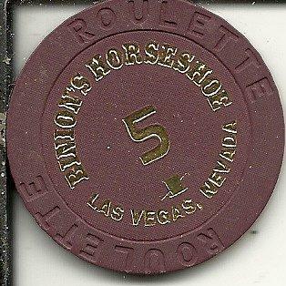 $1 binion's horseshoe roulette casino las vegas casino chip obsolete