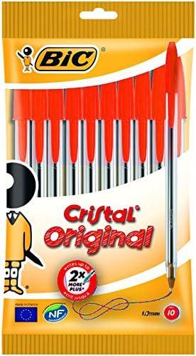 BIC Cristal Original, punta de 1 mm, pack de 10 bolígrafos Color ...