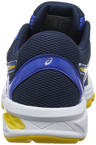 Asics Gt-1000 6 GS, Zapatillas de Running Para Niños Multicolor (Victoria Blue/tai-chi Yellow/dark Blue 4504)