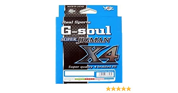 YGK Real Sports G-SOUL SUPER JIGMAN X4 300m 25lb #1.5