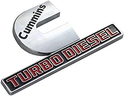 Badges High Output Nameplate Replacement Sticker for 2500 3500 Fender Emblem Chrome 2 Pack Cummins Turbo Diesel Emblems