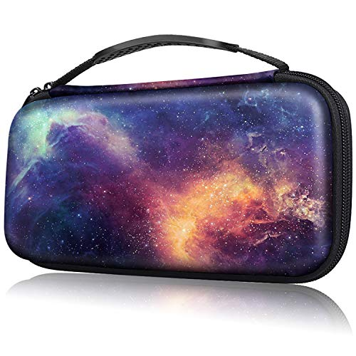 Fintie Carry Case for Nintendo Switch - Portable Traveler Protective Cover Storage Carrying Bag Pouch with 10 Game Card Slots and Inner Pocket for Nintendo Switch Console Joy-Con, Galaxy from Fintie
