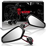 Best View Mirrors For Honda Motorcycles - MZS Bar End Mirrors Motorcycle Rear View CNC Review