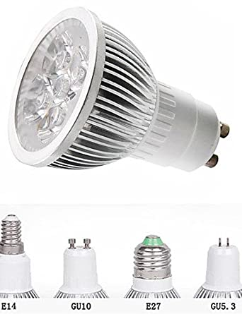 bombilla LED GU5,3 5 W GU10/E27/e14 5LEDs 550LM lámpara de luz luces Foco LED (90 - 260 V), cool white-non-dimmable 5.0 wattsW: Amazon.es: Iluminación