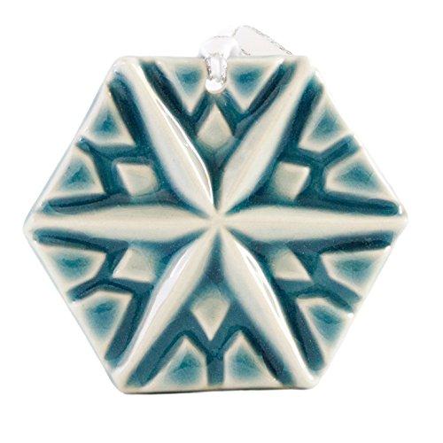 (Pewabic Snowflake Ornament - North Star )