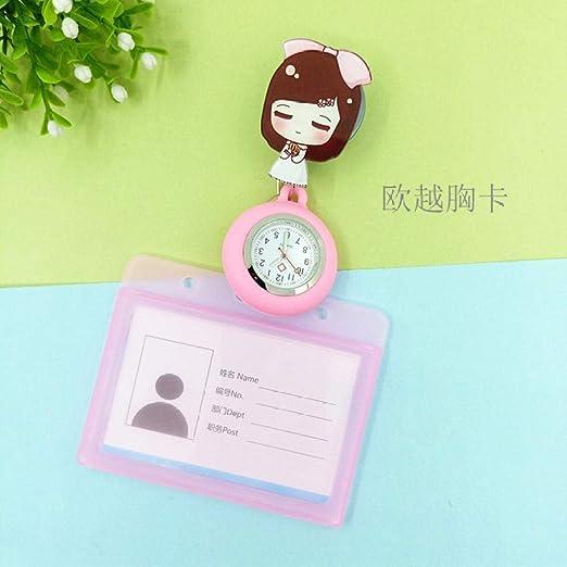Cxypeng Relojes Bolsillo Médico Enfermera,Estuche de Tarjeta de Enfermera Extensible a Prueba de Agua, Reloj electrónico de Bolsillo para Hombres y Mujeres-N,Reloj de Enfermera Fob: Amazon.es: Hogar