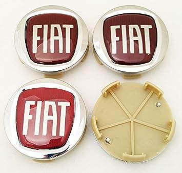 4 x tapones para llantas con el logotipo de Fiat de 60 mm para remaches de aleación: Amazon.es: Coche y moto