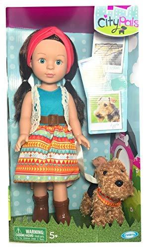 "City Pals Cititoys Austin Allie Sky 14.5"" Doll & her Schnauzer Apple"