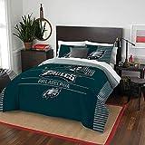 The Northwest Company Officially Licensed NFL Philadelphia Eagles Draft Full/Queen Comforter and 2 Sham Set