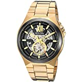 Bulova Men's Automatic Stainless Steel Casual Watch, Color:Gold-Toned (Model: 98A178)