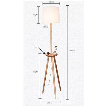 Cailin Lampe Massivholz Ecke Multifunktions Stehleuchte