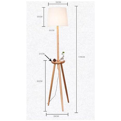 Lámparas de ZHANGRONG madera Lámpara Esquina de pie maciza T1cKlFJ