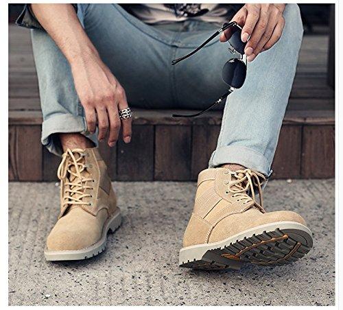 bottes bottes hautes aider en bottes Martin Chaussures 42 respirante HL Sand Yellow bottes Angleterre Retro PYL couleur outillage Xn0qR458x