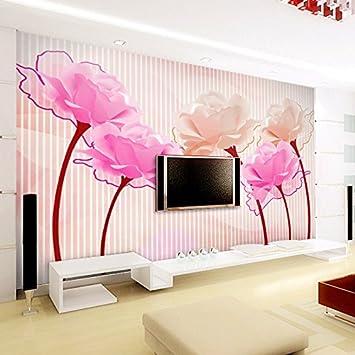 Bizhige 3d Rose Tapete Wand Fototapete Tv Wandverkleidung Wohnzimmer