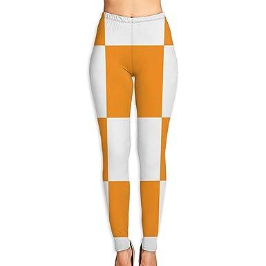 Deglogse Yoga Pants,Workout Leggings,Checkerboard Orange ...