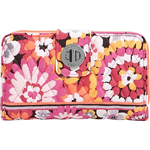 Vera Bradley Womens Turn Lock Wallet Pixie Blooms Checkbook (Pixie Purse)