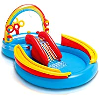 Intex Inflatable Kids Rainbow Ring Water Play Center